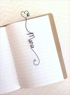 Monogram or Name wire bookmark