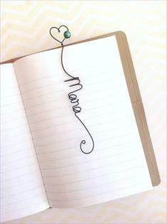 Monogram or Name wire bookmark