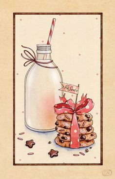 christmas desserts | 2013 by Natalia Tyulkina, via Behance