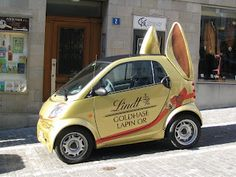Wonder if it hops too.id love to do this to my smart car Happy Easter, Easter Bunny, Lindt Chocolate, Smart Car, Cute Cars, Egg Decorating, Car Wrap, Electric Cars, Clever