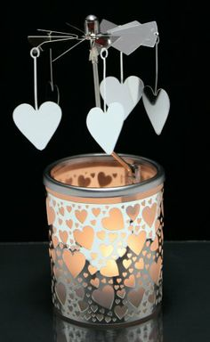 31ded11e1ef9 Candle Holder With Spinning Hearts Banberry Designs