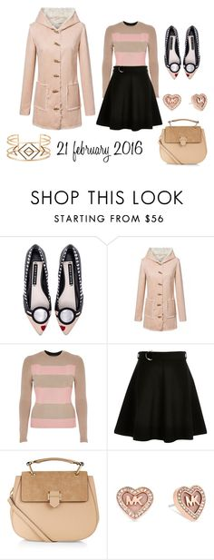 """21 february 2016"" by aliciagorostiza on Polyvore featuring moda, Alice + Olivia, River Island, Accessorize, Michael Kors, Stella & Dot, women's clothing, women, female y woman"