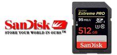 Extreme PRO SDXC UHS-I - cardul SD de 512 GB de la SanDisk