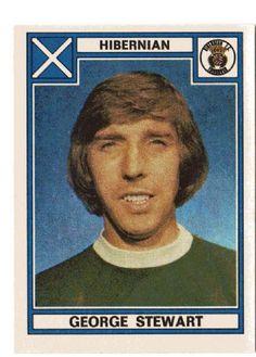 HIBERNIAN - George Stewart #492 PANINI Football 78 Sticker