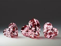 The beautiful, rare and prestigious Argyle Pink Diamonds ~ The heart-shaped fancy intense pink diamond.