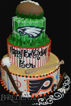 Philly Sports Cake by Bredenbeck's Bakery
