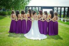 We could do something similar so that we can show off the back of our dresses... @Casey Dalene Manner
