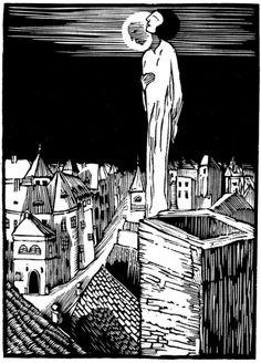Josef Vachal Czech Graphic Artist Journey of a small elf Ex Libris, New Print, Linocut Prints, Figure Painting, Contemporary Artists, Art History, Printmaking, Blog, Artwork