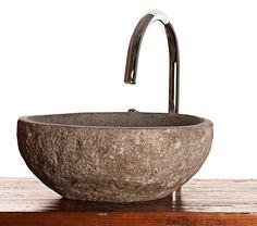 Flussfelsen naturstein granit waschbecken für badezimmer oder garderobe | eBay