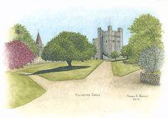 """""""Rochester Castle"""" by Andrea E. Bennett (2010)"""