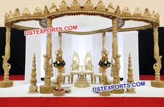 #Indian #Wedding #Hand #Carved #Peacock #Mandap #Dstexports