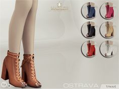 Madlen Ostrava ShoesNew block heeled booties featuring a cool leather lace-up front! Come in 7 colours (suede texture).You cannot change the mesh, but feel free to recolor it as long as you add original link in the description.If you can't see this creation in CAS, please update your game.If you're experiencing thumbnail problem, update your game (latest patch should solve the problem).Hope you'll like it!Enjoy!DOWNLOAD