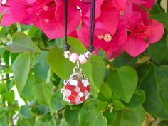 Costume jewellery: Colourful necklace - with Ladybird / Ladybug