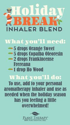 Try this KidSafe inhaler blend to enjoy all of these oils working harmoniously together to help you relax and feel great after the holidays! Essential Oil Inhaler, Essential Oil Box, Young Living Essential Oils, Essential Oil Diffuser, Aromatherapy Recipes, Plant Therapy, Holiday Break, Diffuser Blends, How Are You Feeling