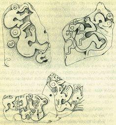 Easter Island, Petroglyphs.