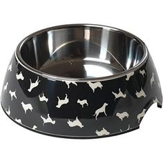 House of Paws Silhouette Dog Print Bowl, Large *** Click image to review more details. (This is an affiliate link) #Dogs