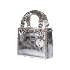 Christian Dior Mini Lizard Lady Dior Bag ❤ liked on Polyvore featuring bags, handbags, christian dior, mini purse, white purse, christian dior purses, white handbags and white bag