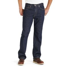 Levi's Men's Rinse 505 Regular Fit Jeans #100%-cotton #5-pocket-design #Denim