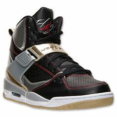 Men's Jordan Flight 45 High Basketball Shoes  Finish Line   Black/Gym Red/Metallic Silver
