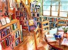 books are made up of the fragments of artists allowing their thoughts seep into stories Bookshop Interior
