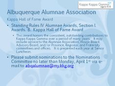 Hall of Fame Award Nominations
