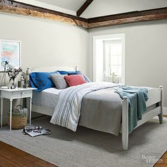 A no-fail Ralph Lauren Paint palette from Better Homes and Gardens features four whispy shades of white.