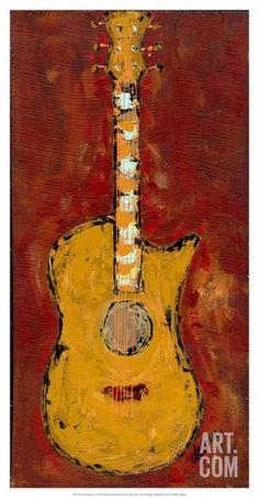 Six Strings V Art Print by Deann Hebert at Art.com