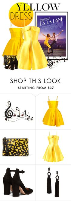 """""""Yellow dress✨"""" by rayamokshina ❤ liked on Polyvore featuring Benzara, Alex Perry, McQ by Alexander McQueen, Gianvito Rossi and Oscar de la Renta"""