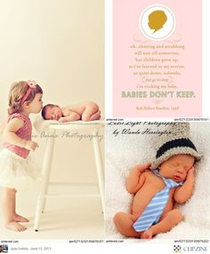 Baby Photography- love the hat and tie pic!