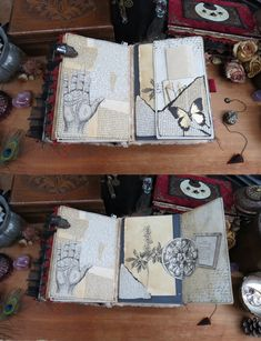 Junk Journal, Witch, Mixed Media, Etsy Seller, Creative, Witches, Witch Makeup, Mixed Media Art, Maleficent