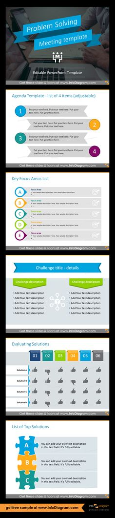 PowerPoint template for running effective meeting Business - meeting list template