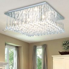 Luxuriant Crystal Flush Mount with 9 Lights in Square      US 433.00      sale US 257.39