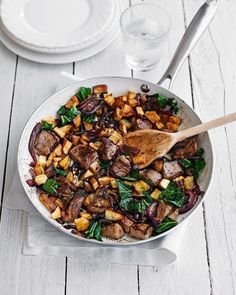 Crispy potato, lamb and rosemary hash