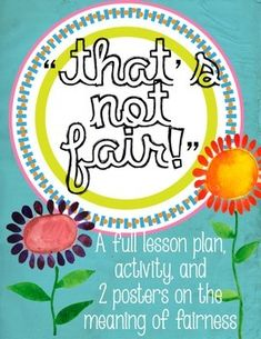 Fairness Lesson, Activity, and Poster from The Bad Apple on… Social Skills Lessons, Teaching Social Skills, Social Emotional Learning, Teaching Kids, Elementary School Counseling, School Social Work, School Counselor, Social Work Activities, Therapy Activities