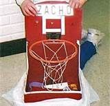valentine's day box - basketball hoop