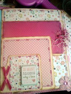 baby girl file folder album