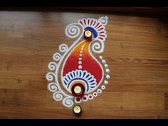 Free hand rangoli designs with colours by Shital Daga Easy Rangoli Designs Diwali, Simple Rangoli Designs Images, Rangoli Designs Latest, Rangoli Designs Flower, Free Hand Rangoli Design, Rangoli Border Designs, Small Rangoli Design, Colorful Rangoli Designs, Rangoli Ideas