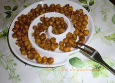 La cajita de Nieves y Elena: Garbanzos especiados con curry de aperitivo