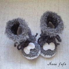 e2b591bd778a1 Chaussons de bébé au crochet   des bottines antidérapantes - Nana Fafo