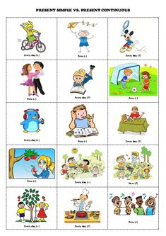 present simple vs present continuous(look at the picture and make sentences)!!!!