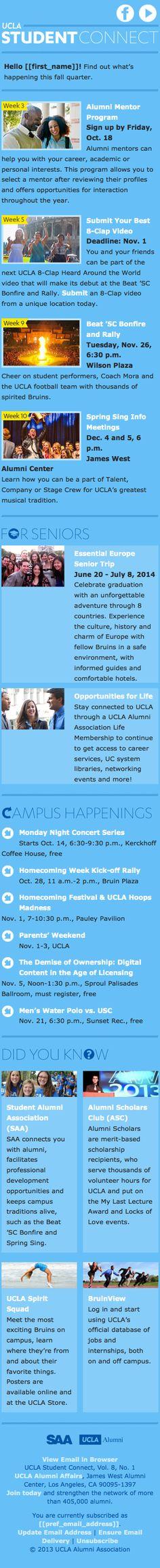 UCLA Alumni responsive email newsletter