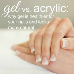 Gel vs. acrylic: why gel is healthier for your nails and looks more natural. What The Gel Nails Salon, nail salon South Jordan