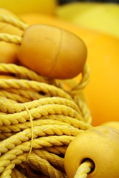 Yellow Floats and Rope ~ Photography by Frederic Bertrand on Flickr.