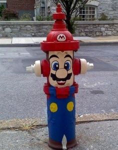 The fire hydrant is cosplaying Mario.