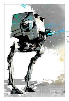 Star Wars ATST Imperial Walker Geekery fan by MediaGraffitiStudio, $30.00