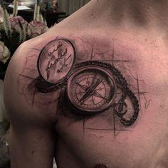 """""""via finis est""""  #compass #compasstattoo #kompass #kompasstattoo #blackandgrey #blackandgreytattoo #tattoo #tattoos #tattooart #tattooartist #instaart #instatattoo #art #artist #newyork #paris #london #tattoobash #cologne #new #newintown #zimmer3 #zimmerdrei #weidengasse20 #50668 #köln #eigelstein #borisbarsukow"""