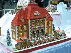 North Pole Gingerbread House