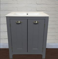 Bathroom-Cabinet-Vanity-Unit-600mm-Mist-Grey-Wash-Stand-with-Ceramic-sink-Basin