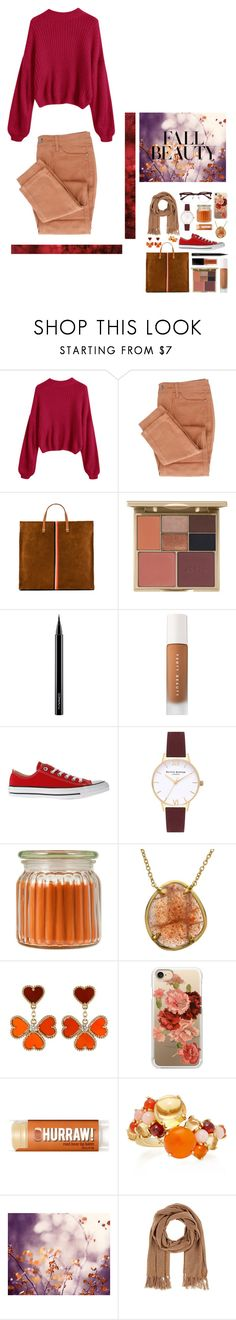 """""""♡fall fashion♡"""" by mia-172xx ❤ liked on Polyvore featuring Clare V., Stila, MAC Cosmetics, Puma, Converse, Topshop, Holiday Memories, Van Cleef & Arpels, Casetify and Daria de Koning"""