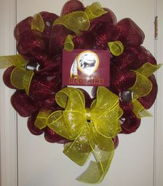 Redskins wreath